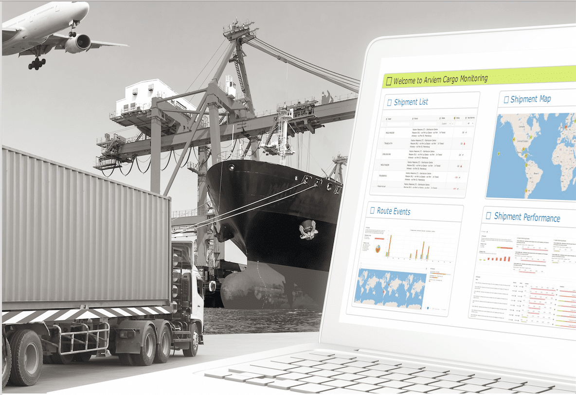 Intermodal Cargo track and trace dashboard