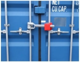 Bar or Cross bar container Security Device