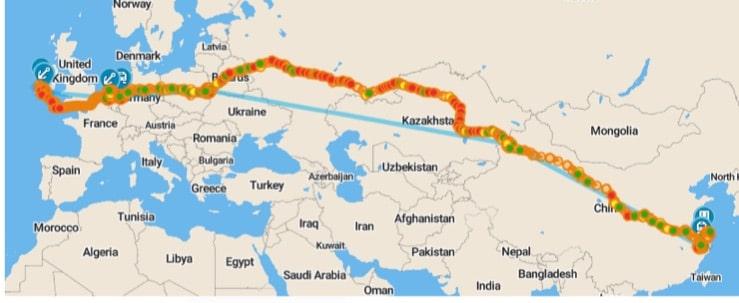 Silk road freight train china ireland