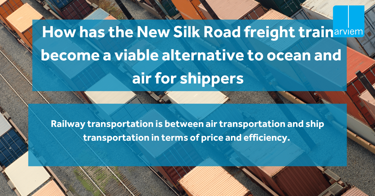 How has the New Silk Road freight train become a viable alternative to ocean and air for shippers